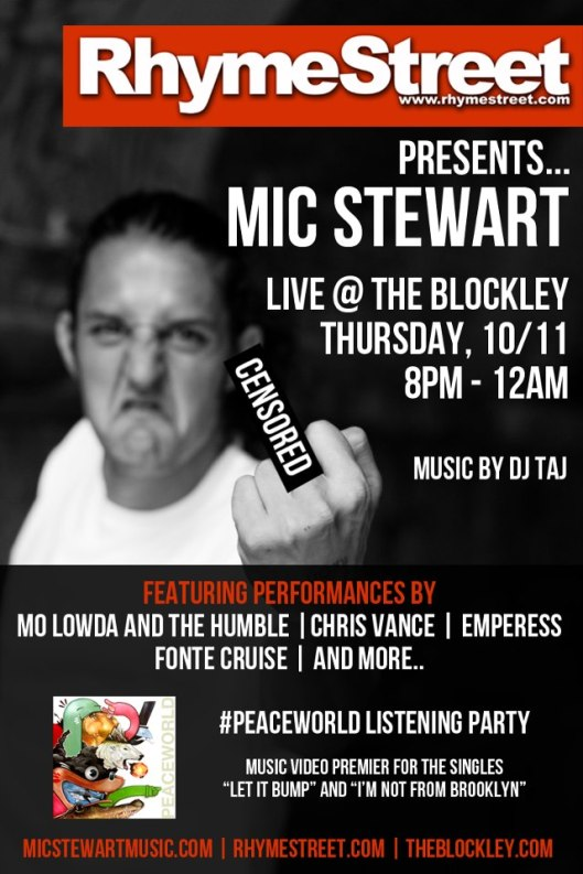 SS Calendar 10.11.12: RhymeStreet.com Presents...MIC STEW