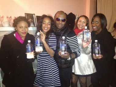 Sincerely, Love guests enjoyed their water courtesy of Cerebellum! Comedian Buc Wild pictured here w/beautiful ladies!