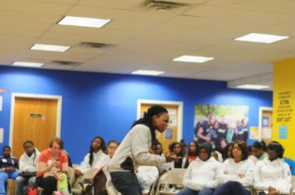 Shadel, aka HRSH Reyalitee performed some of her poetry. She traveled from Brooklyn, NY to be a part of the conference.